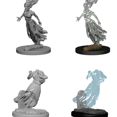 D&D Nolzur's Marvelous - Unpainted Miniatures Ghost & Banshee