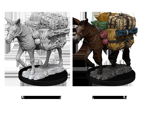 WizKids Deep Cuts Unpainted Miniatures - Pack Mule
