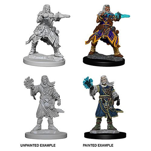 Pathfinder Battles Deep Cuts Unpainted Miniatures - Male Human Wizard