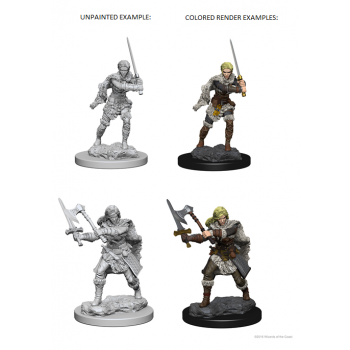 D&D Nolzur's Marvelous Unpainted Miniatures - Human Female Barbarian