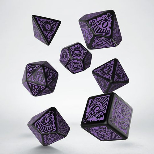 Call of Cthulhu Horror Orient Express Black/Purple Dice Set
