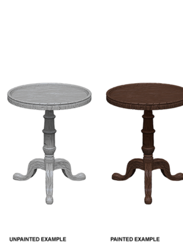 WizKids Deep Cuts Unpainted Miniatures - Small Round Tables
