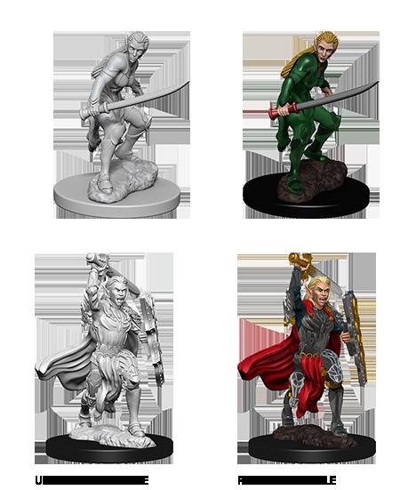 D&D Nolzur's Marvelous Miniatures: Female Elf Fighter