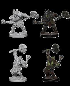 Pathfinder Deep Cuts Unpainted Miniatures - Half-Orc Male Barbarian