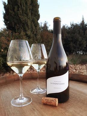 blanc impérial blanc vin igp oc chardonnaydomaine la domitienne