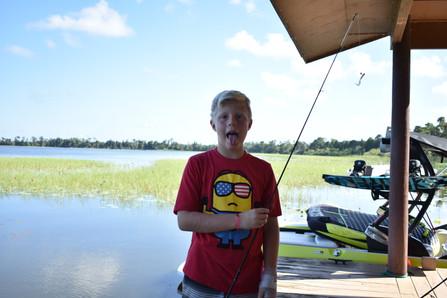 Fishing at Florida Overnight Summer Camp