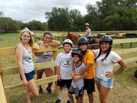 Horses at Florida Overnight Summer Camp.