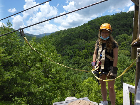 Ziplining At Camp Frontier In Haines City, Florida