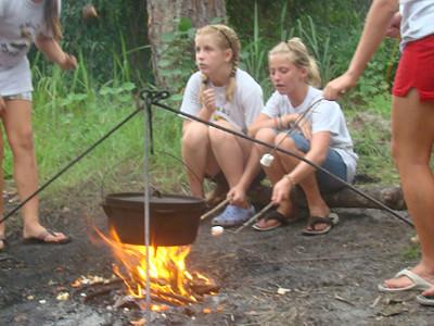 Tent Camping at Florida Overnight Summer