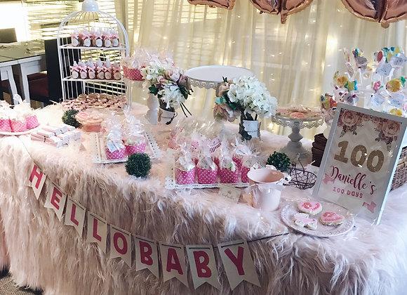 Pink Fur Tablecloth