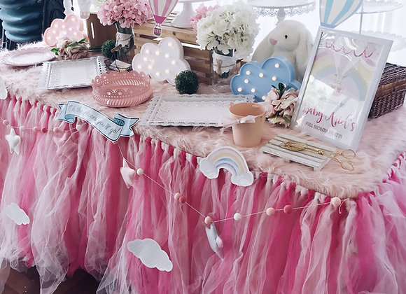 Tri Pink Table Tutu