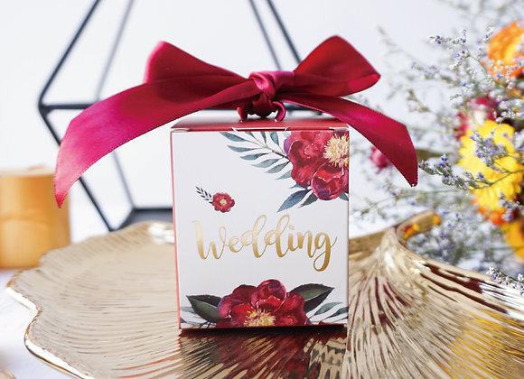 Floral Wedding Favour Box