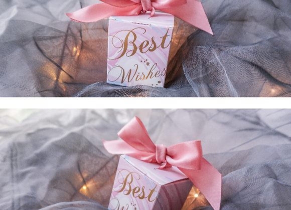 Best Wishes Wedding Favour Box