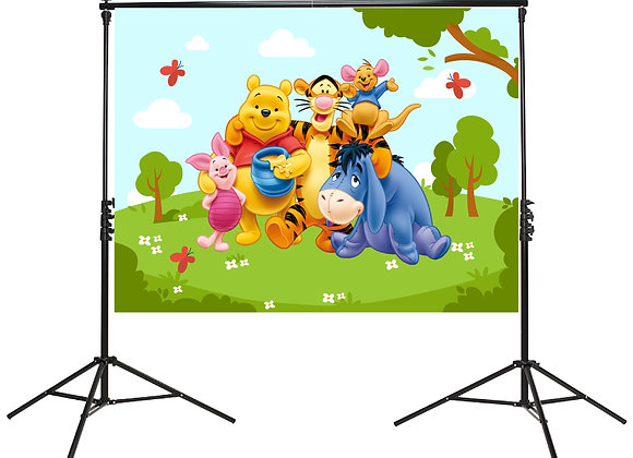 Pooh & Friends Backdrop