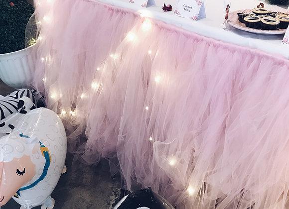 Light Pink Table Tutu