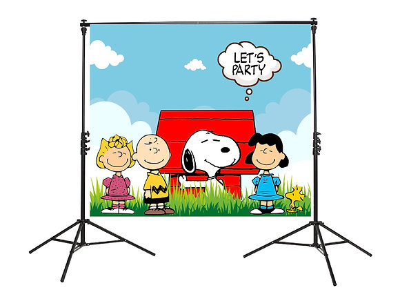 Snoopy & The Peanuts Gang Backdrop
