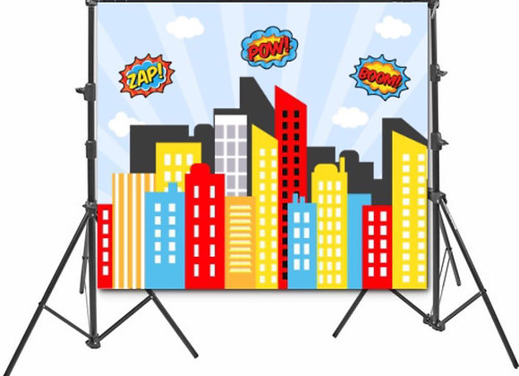 Superhero Backdrop