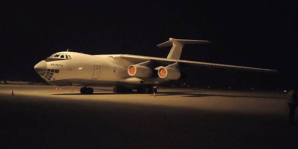 Kaavan's private jet, the IL75