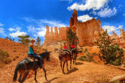 Passeggiata a cavallo a Bryce Canyon