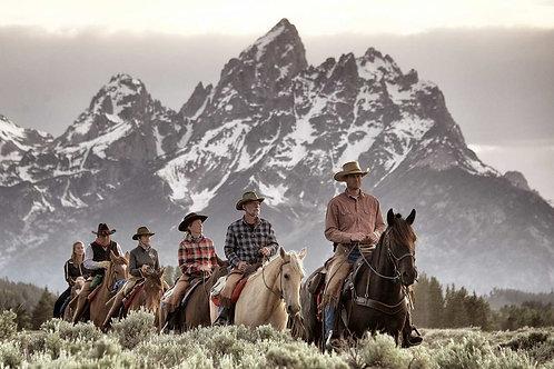 Gita a cavallo tra alte vette