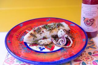 calamaro alla piastra al salmorigano