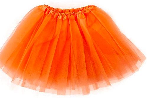 Jupe en tulle orange