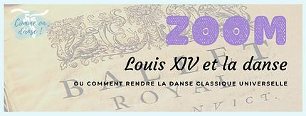 Fiche ZOOM sur le roi Louis XIV et la danse