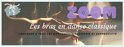 Fiche ZOOM sur les positions des bras en danse classique