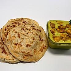 Malabar Parotta & Chicken Kurma