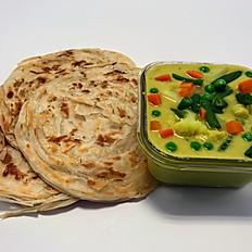 Malabar Parotta & Veg Kurma