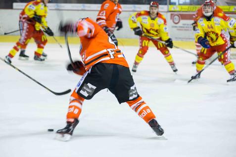 Morges, Eaux Minérales, Hockey sur glace, play-offs 1/4 acte I. HC Forward-Morges - HC Sierre. Yann Millet (Morges)