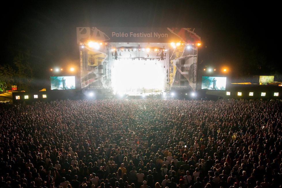 Main Stage during the concert of Gorillaz