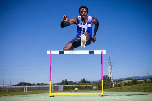 Alain-Hervé Mfomkpa, athlete