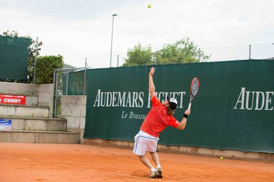 Nyon,Tennis Club Nyon, tennis, Interclubs de LNA Messieurs, Nyon - Neuchâtel. Match nº 2. Marco Trungeletti (Nyon)