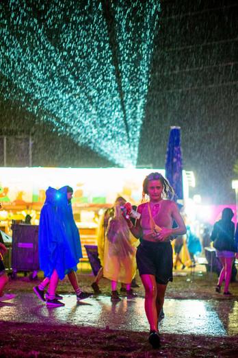 Raining at Paléo