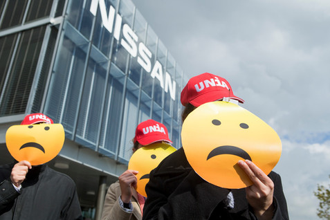 Protest at Nissan International by Un1a
