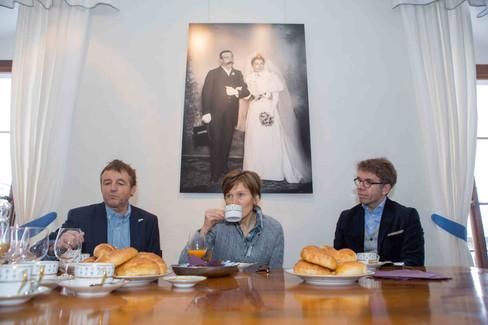 Culture breakfast. Daniel Rossellat, Monique Voélin and Olivier Mayor