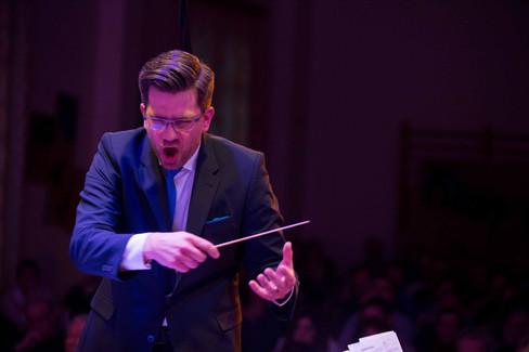 Mont-sur-Rolle Fanfare Municipale concert. Music director Albin de Miéville