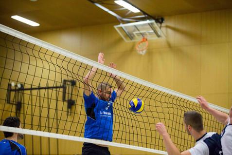 Gland, Salle des Tuillières, Volleyball, 1re ligue. VBC La Côte - Volley Solothurn. Mounir Benouali (Gland)