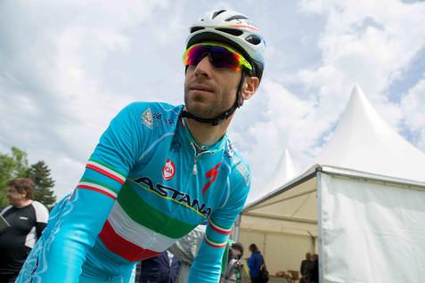 Apples, Cyclisme, 69e Tour de Romandie. Départ de la 2e etape du 69e Tour de Romandie entre Apples et Saint-Imier. Vincenzo Nibali