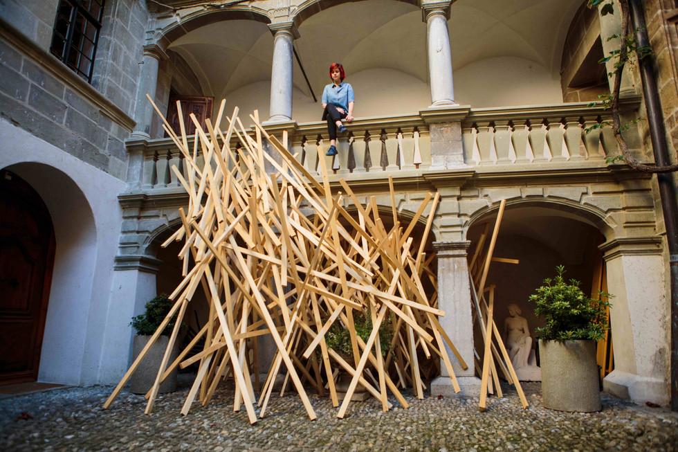 Les oeuvres éphémères et immenses d'Anouchka Perez exposées