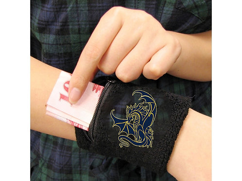 Zippered Wristband with GES Dragon