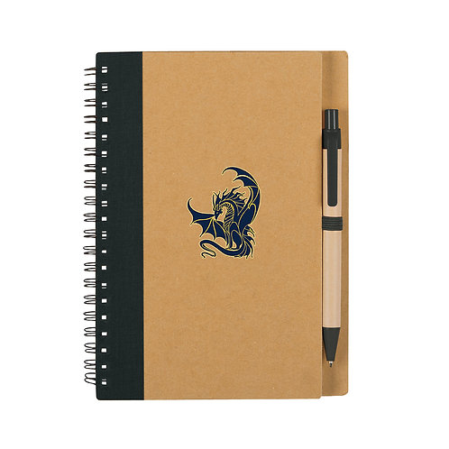 ECO Friendly Spiral Notebook with GES Dragon