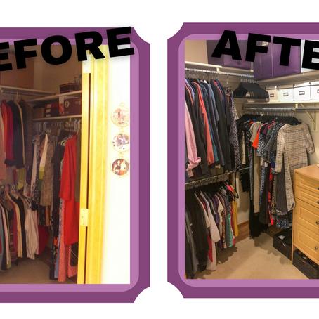 Creative Closet Remodel