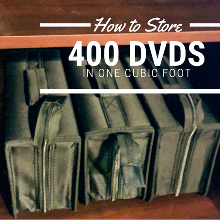 How to Store 400 DVDs in 1 Cubic Foot