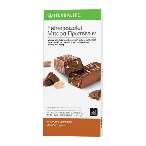 Fehérje szelet mogyorós-csokoládés 14 szelet