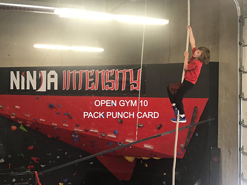 Open Gym Punch Card 10 Pack
