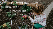 "A private letter to those who have ""thrived"" during the pandemic"