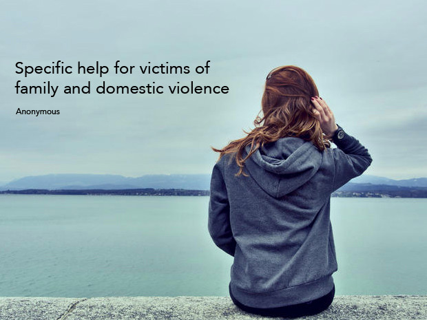 Specific help for victims of family and domestic violence