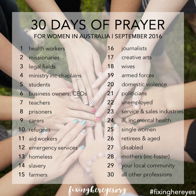 30 Days of Prayer Launch